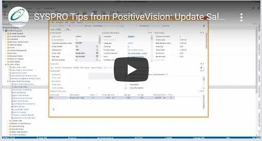 SYSPRO video Update Sales Order Stock Code Descriptions